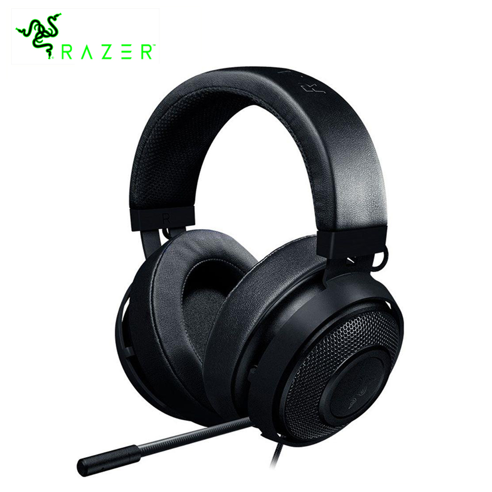 Razer Kraken Pro V2 Gaming Headset With Microphone Oval Ear Cushions Analog 3.5 mm eSports Gaming Headphone For PC Xbox One