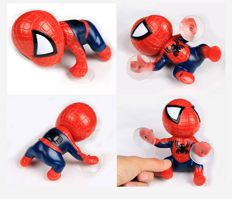 16CM Action Figure Spider Man Toy Climbing Spiderman Window Sucker For Spider-Man Doll Car Home Interior Decoration For Children