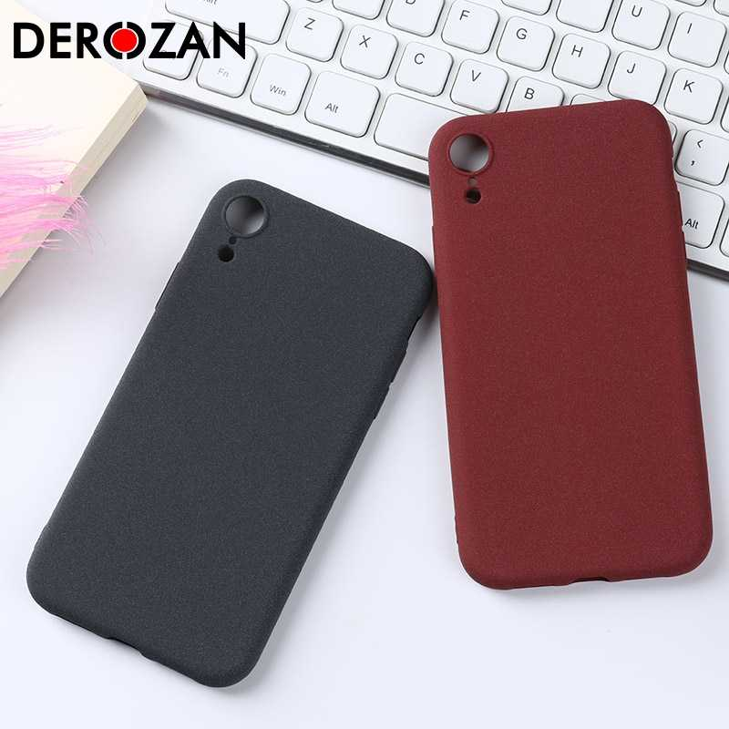 DeRozan Ponsel Case untuk Apple iPhone XR Case iPhone XR Soft TPU Silikon Polos Matte Anit-Knock Scrub Pelindung shell Back Cover