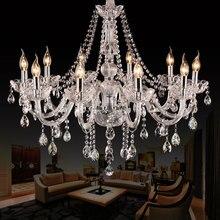 10 cabeças de cristal k9 luz do candelabro sala estar luzes quarto lâmpada restaurante breve iluminação lustre moderno
