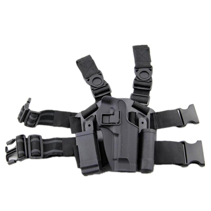 Beretta 92/96 Tactical Pistol Holster Hunting Airsoft Thigh Leg Holster Right Hand Gun Case Army Military Shooting Gun Holster military tactical drop leg thigh holster lv3 light bearing holster for sig sauer p226 p228 p229