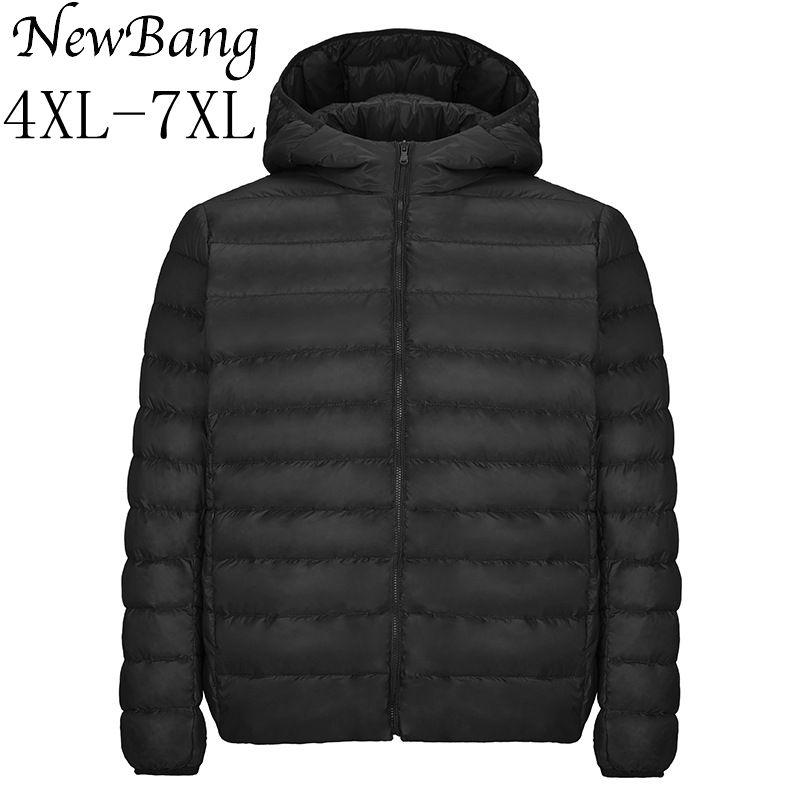 NewBang 5XL 6XL 7XL Women Ultra Light   Down   Jacket Plus Autumn Winter Windbreaker   Down     Coat   Womens Overcoat Feather Jacket Women