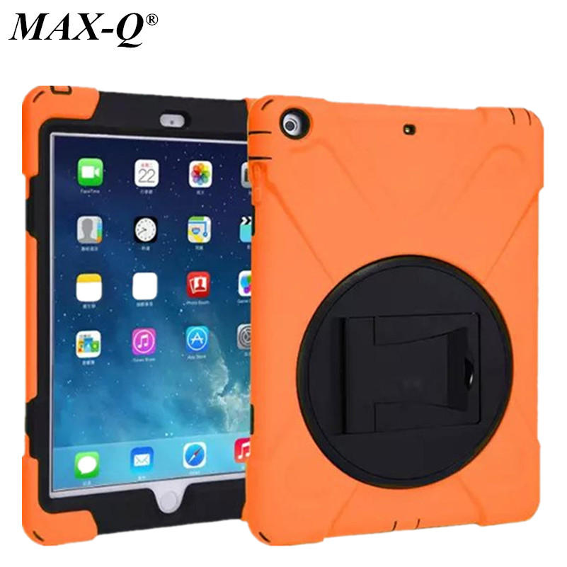 MAX-Q 3 in 1 Hybrid Rubber Rugged Combo Matte Shockproof Duty Case with Stand For iPad 5 cover for ipad air 1