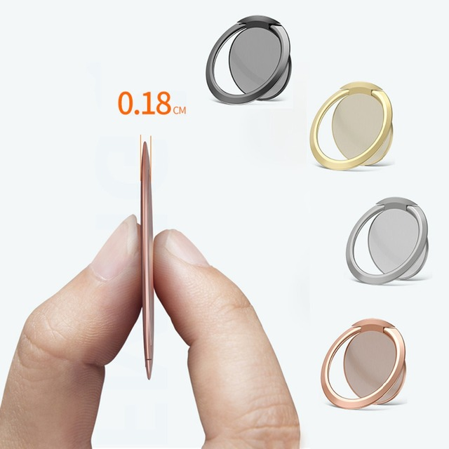 SOONHUA Celular Ring Finger 90 Graus Rotatable Smartphone Stand Titular Para iPhone Samsung Huawei De Metal Do Carro Montar Estande