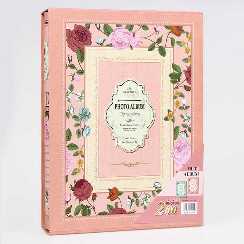 6-inch Intert  Photo Album 200 Pages Scrapbook Paper Baby Family Scrapbook Albums Wedding Foto Album Scrapbooking Flower Album