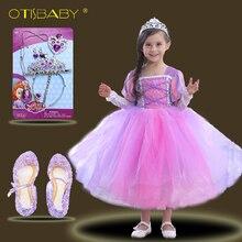 Children Summer Sleeping Beauty Sofia Ball Gowns for Girls Christening Princess Dress Kids Fairy Tutu Cinderella Clothing