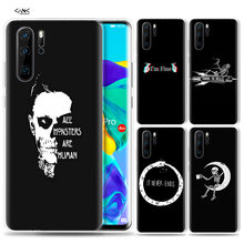 Case for Huawei P30 P20 P10 P9 Mate 10 20 Lite Pro Mobile Cell Phone Bag P Smart Z 2019 Plus Black Skull Never Better Horror P8(China)