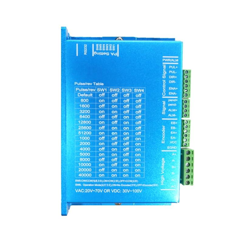 Nema 34 12.5N.m Kit de moteur pas à pas en boucle fermée servomoteur Hybird HB860H + 86HB250-156B 86 moteur pas à pas 2 phases - 2