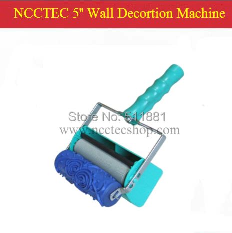 5'' two color wall decoration machine with 1 pcs of 5'' paint roller | five inch 125mm two color knurling machine FREE shipping 5 pcs of p