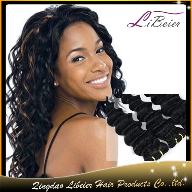 2017 Tangle Free Best Density For Black Woman Brazilian Human Hair Sew In Weave