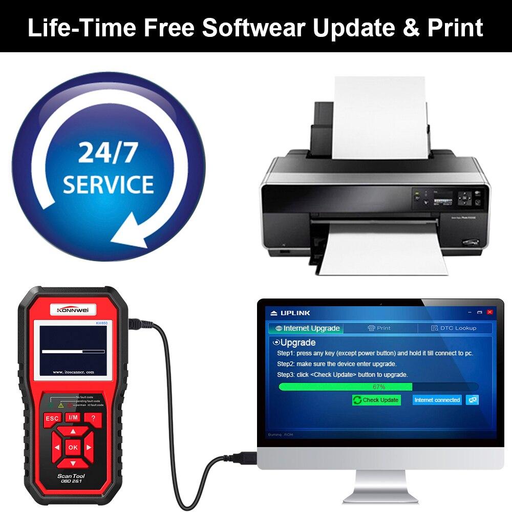 KONNWEI OBD OBD2 Automotive Scanner Fault Code Reader With Multi-language ODB2 Car Diagnostic Tool Auto Scanner BEST OBD 2 KW850
