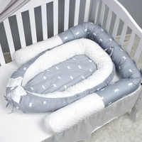 Crown pattern Baby Nest Bed Portable Crib Travel Bed Infant Toddler Cotton Cradle For Newborn Baby Bassinet Bumper