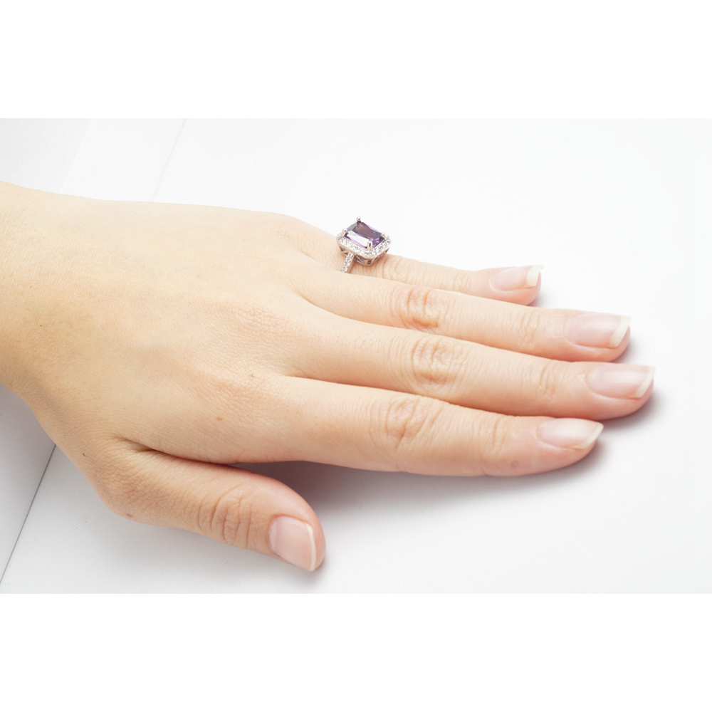 Yunkingdom NEW Square Design White Gold Color Ring Cubic Zirconia Wedding Rings Clothing & Accessories X0039