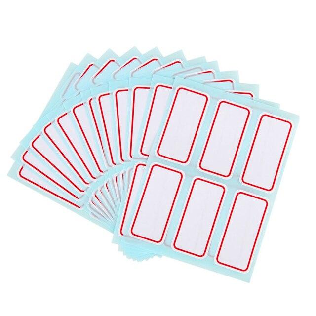 L04 72 unids/pack blanco pegatinas autoadhesivas etiqueta de nombre pegatinas estudiante y la Oficina de la Escuela de 2,5*5,3 cm