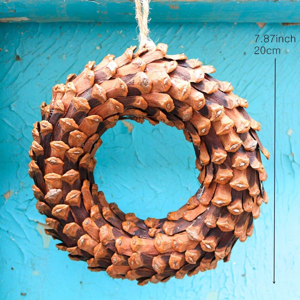 D7.87 Décoration Guirlande De Noël Pomme De Pin de Baisse Ornements Natal Naturel de Décoration Navidad Arbre De Noël Décorations pour La Maison