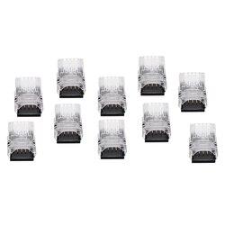 10 sztuk 5 Pin taśma LED do złącza przewodu do 12mm RGBW RGBY wodoodporna IP65 5050 LED połączenia światła akcesoria