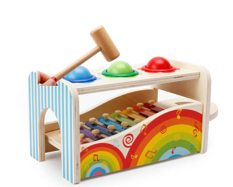 Música multifuncional batendo mesa brinquedos educativos de