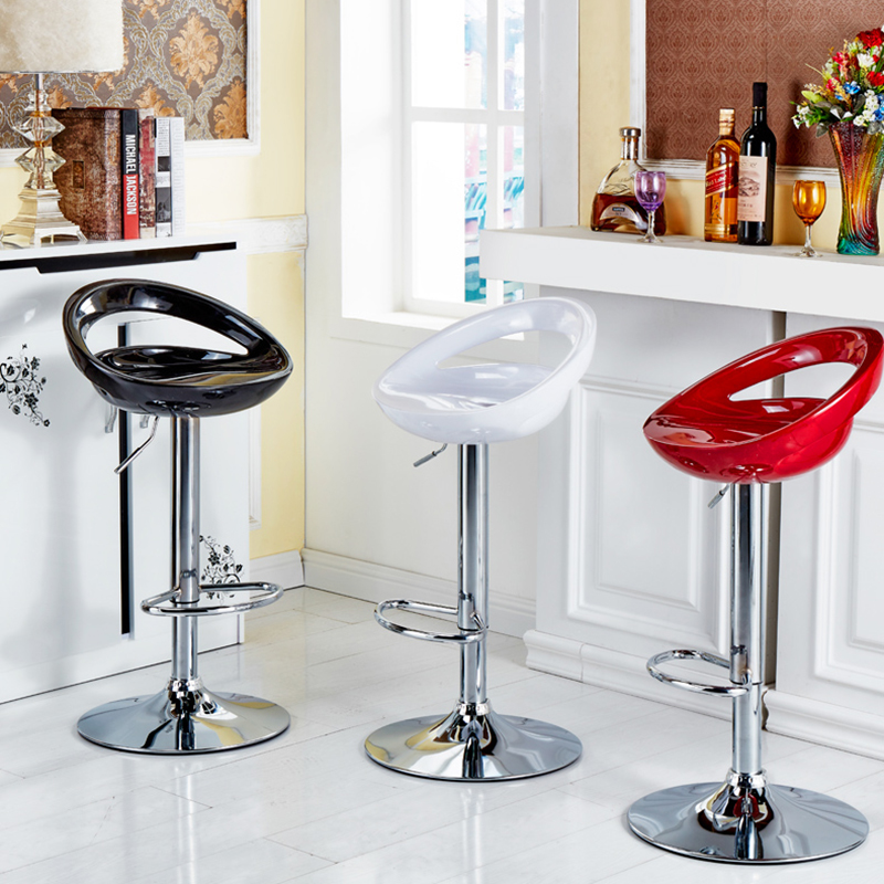 2pcs Bar Chair ABS Plastic Height Adjustable 360 Degree Swivel With Backrest Bar Chairs White Black Red Fast Shipping HWC