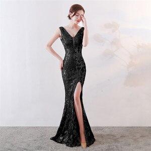 Image 5 - It S YiiyaชุดราตรีSequined Vคอซิปด้านหลังMermaid Party Gowns Royal Backlessความยาวทรัมเป็ตชุดราตรีc181