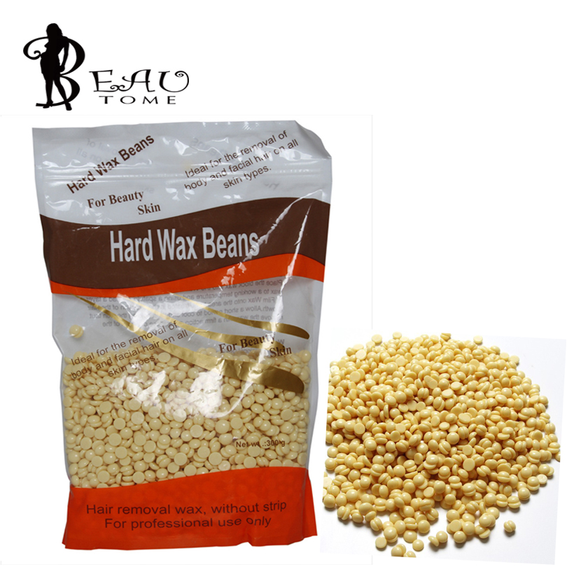 Beautome High Quality <font><b>Hair</b></font> <font><b>Removal</b></font> <font><b>Products</b></font> <font><b>From</b></font> Solid Wax Beans Free Paper Honey Beans Creamy Flavor 310 g Beauty Tools