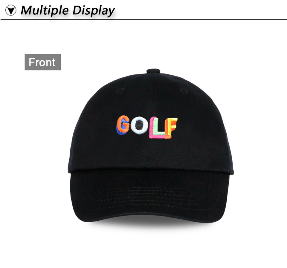9b3cbdd9ccc5 Tyler The Creator Golf Hat - Black Dad Cap Wang Cross T shirt Earl ...