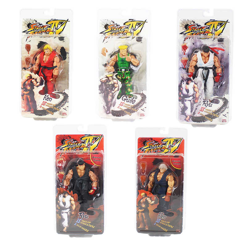 18 cm NECA Street Fighter Ken Ryu Guile PVC Action Figure Collectible Modelo Toy
