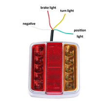1 قطعة أضواء المقطورة LED 12 V شاحنة لمبة خلفية مع عدد ترخيص لوحة للماء سيارة مؤشر LED وقف موقف ضوء مصباح