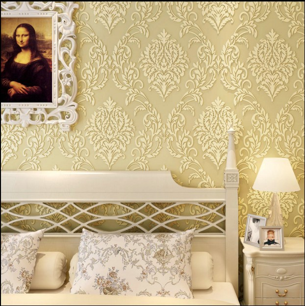 Hot sale new 2016 European non-woven wallpaper waterproof Sweet high-grade relief ultra thick 3d bedroom TV setting wall paper high grade non woven wallpaper bedroom living room tv setting wall stickers study on sale retro mottled european big flowers