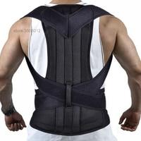 Black Clavicle Posture Corrector Back Lumbar Support Belt Shoulder Corset Back Orthopedic Brace Scoliosis Posture Corrector Belt