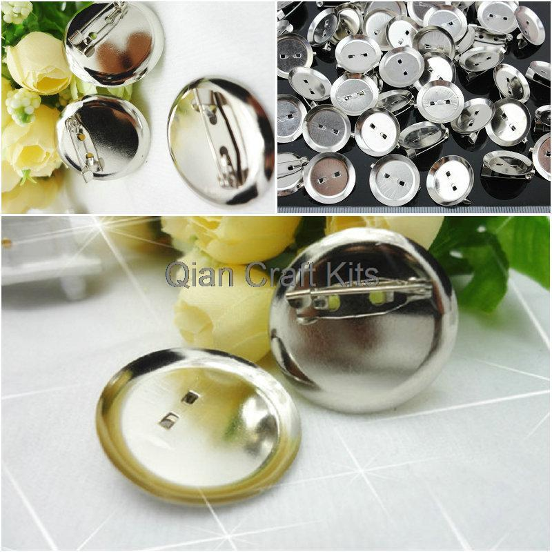 500pcs mixed sizes (20-30mm) Brooch Safety Pins - Brooch Pad - with silver round glue pads js0134