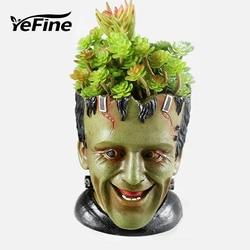 Yefine resina vasos de flores para plantadores de jardim criativo dos desenhos animados estátua & animais groot bonsai vasos planta suculenta vaso de flores