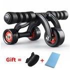 <+>  Мужчины Женщины Талия Тренажер для мышц живота Ab Roller 3 Колеса Тренажер для мышц живота Гимнастик ✔