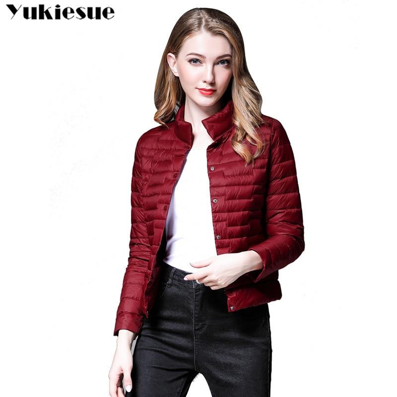Women Winter   Coat   2018 New UltraLight White Duck   Down   Jacket Slim Women Winter Puffer Jacket Portable Windproof   Down     Coat   female