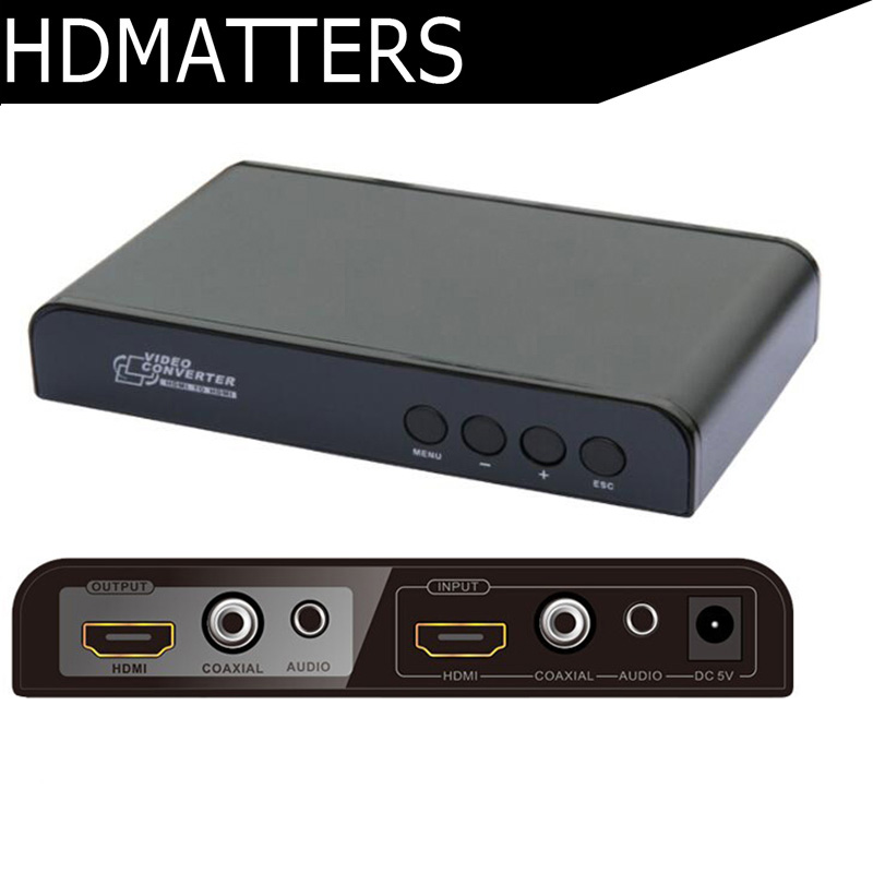HDmatters HDMI up&down scaler with HDMI Digital coaxial audio&stereo audio in and out down and out in paris and london