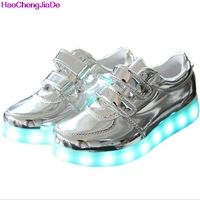 Children LED Light Up Shoes For Kids Sneakers Fashion USB Charging Luminous Lighted Boys Girls Sports