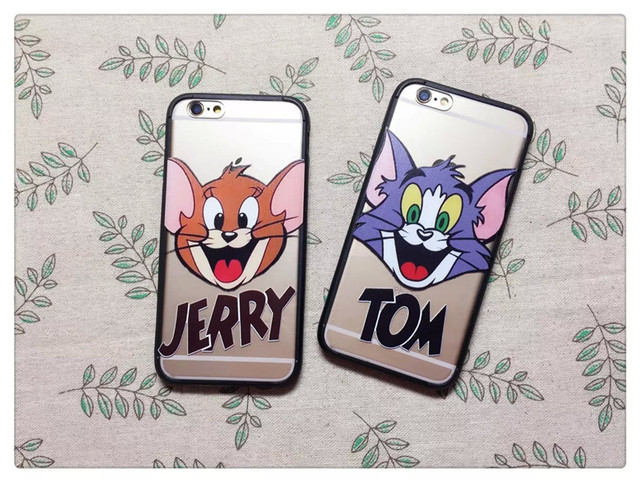 Phone case for iPhone 6/6s case of Tom and Jerry cute cartoon patterns by PC material case for for iPhone 6 6s cover