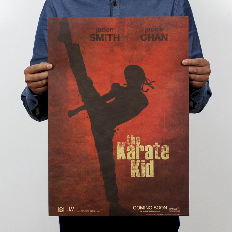 The Karate Kid USA Classic Movie Vintage Poster Wall Sticker Retro old Paper Posters Antique Home Decoration 42x30cm image