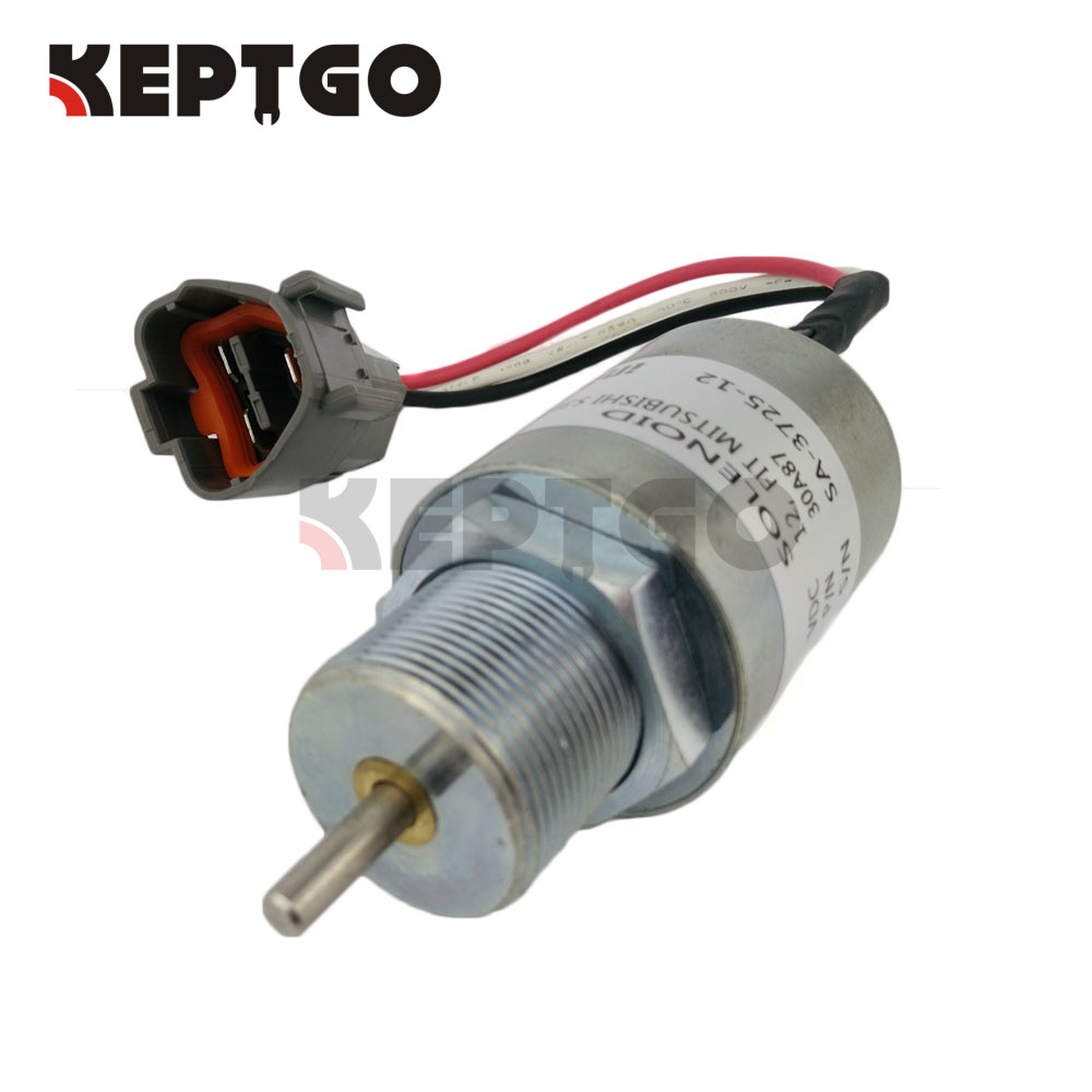 12v Fuel Shut Off Solenoid For Mitsubishi L2E L3E S3L S4L Engine SA-3725-12 30A87-10044 30A87 fuel shut off solenoid valve coil 3964624 fits excavator engine