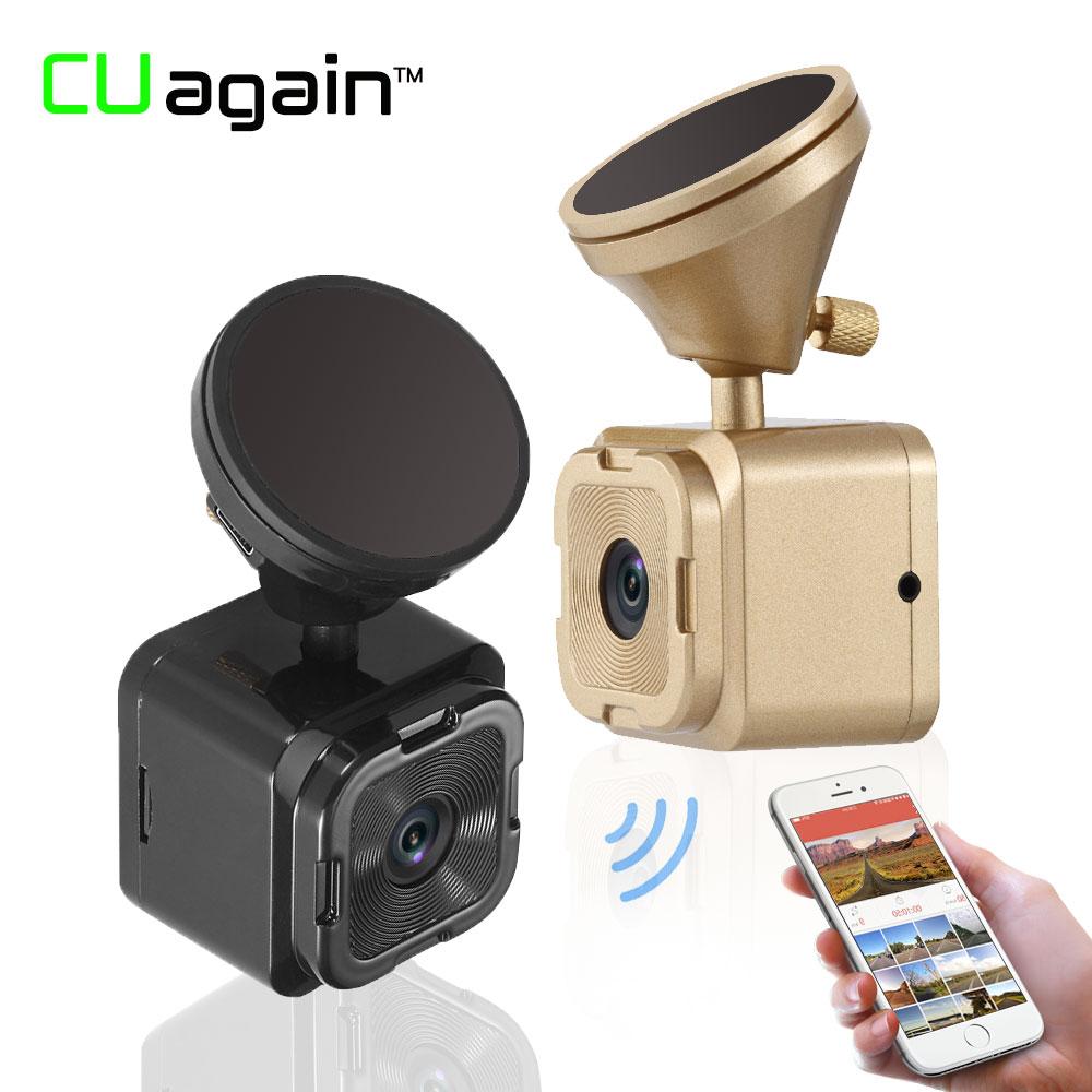 CUagain C72 Mini DVR Dash Cam 20Days Monitor 1080P FHD Car Camera No Screen Wifi Control