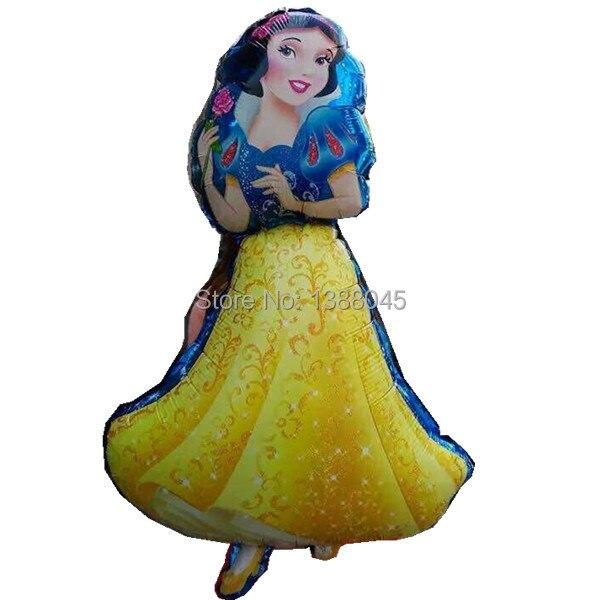 5 unids / lote tamaño grande princesa Cinderlla Belle Elsa Foil - Para fiestas y celebraciones - foto 3