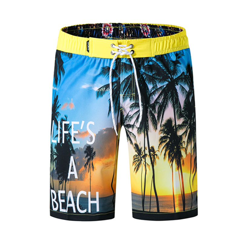 Mens Shorts Trunk Summer Pockets Color Building Blocks Swim Beach Athletic Quick Dry Beachwear Boardshort