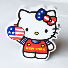Ad arco di New York Gatto USA Flag Doppi Lati Stampati Adorabile Cute Cartoon Palla Antenna Antenna Topper Decor Auto Tetto Ornamento(China)