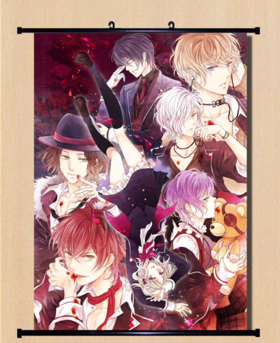 Anime DIABOLIK LOVERS Ayato Kanato Home Decor Poster Wall Scroll In Aus Malerei