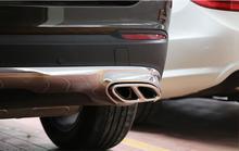 Edelstahl Hinten Dual Auspuffrohr Stick Abdeckung Borte Für Mercedes GLC200 GLC250 GLC300 GLC Klasse 2015 2016