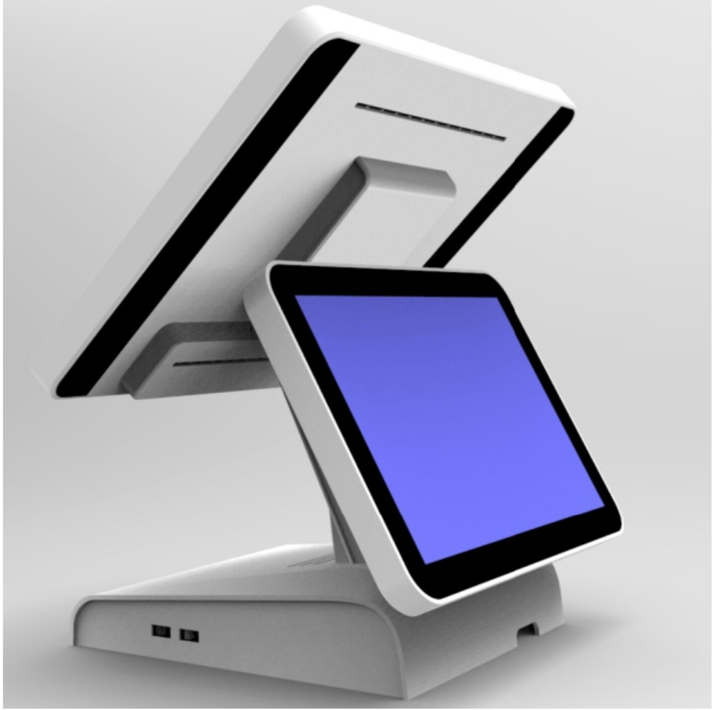 Dual Pos 15 Inch Capacitive Pos Touch Screen Computer