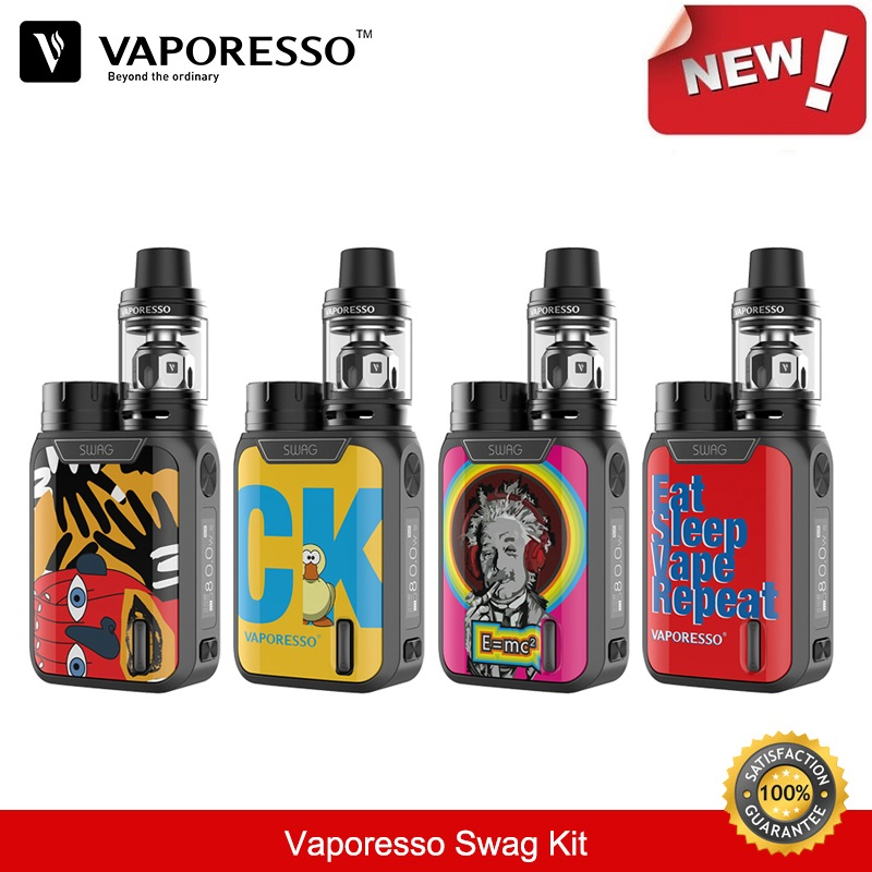 Vaporesso Swag Kit 80W 18650 Box Mod with 3.5ml NRG SE Vape Tank GT Coil Vaporizer E-Cigarette Kit VS Smok Electronic Cigarette