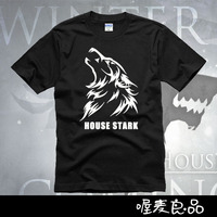 Full Set Of Lovers Male Short Sleeve T Shirt Ice And Fire Stark 2