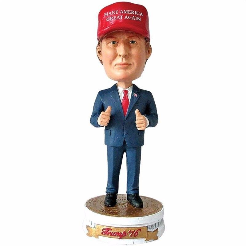 17,5 cm USA Präsident Donald Trump Limited Edition Bobblehead-Machen Amerika Große Wieder Harz Schütteln Kopf Figur spielzeug Hause dezember