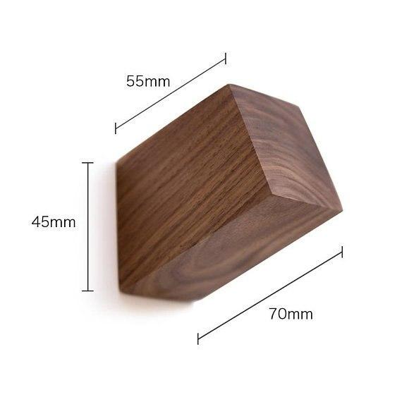 Купить с кэшбэком Solid Wooden Hook Decorative Wall Hook Coat Hangers Wall Bag Hat Hook Beech Black Walnut Simple Modern Bathroom Towel Hook