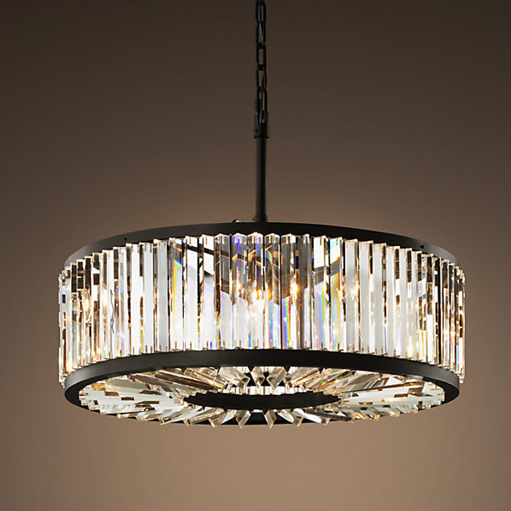 Loft modern crystal chandelier light for dining room led crystal chandeliers round lamp crystal - Dining room crystal chandelier lighting ...